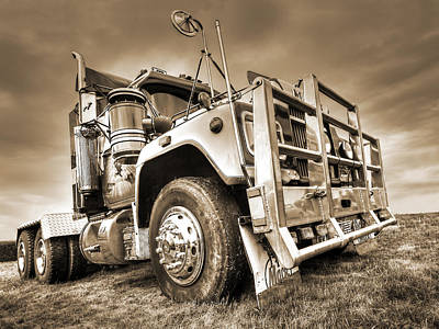 Photograph - Done Hauling - Sepia by Gill Billington