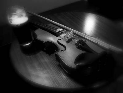 Photograph - Donegal Fiddle And Guinness by Lexa Harpell