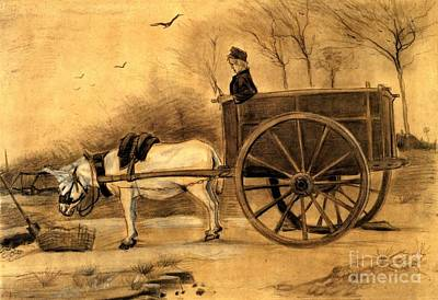 Gogh Painting - Donkey And Cart by MotionAge Designs