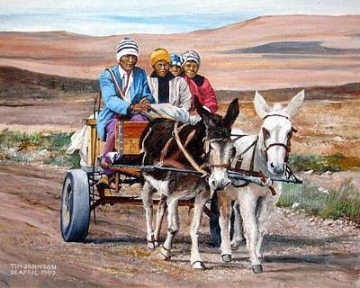 Donkey Cart Art Print by Tim Johnson