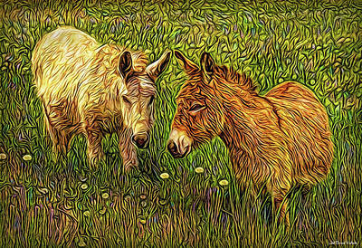 Donkey Confidential Art Print