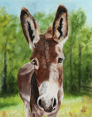 Painting - Donkey by Jan Priddy