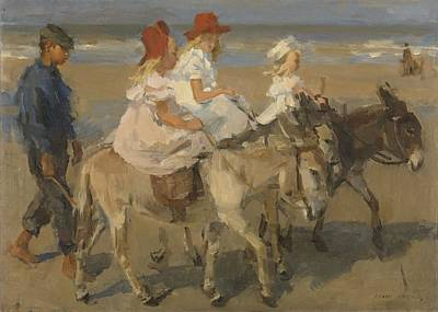 Painting - Donkey Rides On The Beach  Isaac Israels C 1890  C 1901 by R Muirhead Art