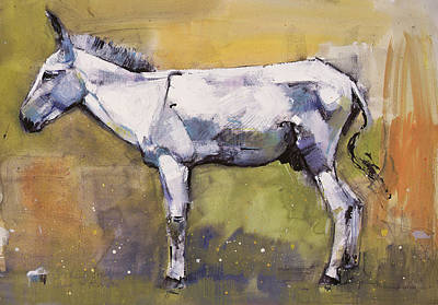 Donkey Painting - Donkey Stallion, Ronda by Mark Adlington