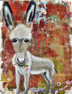 Wall Art - Painting - Donklette by Carol Iyer