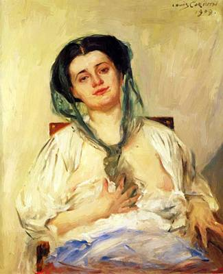 Painting - Donna Gravida 1909 by Corinth Lovis
