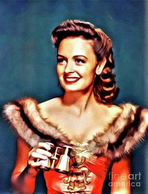 Donna Digital Art - Donna Reed, Hollywood Legend By Mary Bassett by Mary Bassett