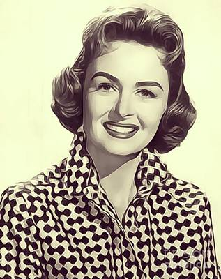 Donna Digital Art - Donna Reed, Vintage Actress by John Springfield