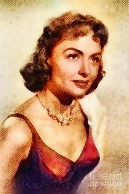Donna Painting - Donna Reed, Vintage Hollywood Actress by John Springfield