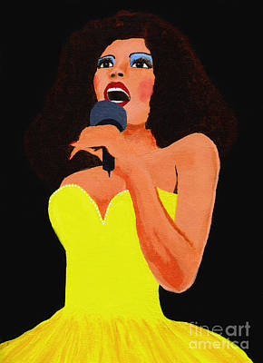 Donna Summer Painting - Donna Summer by Carlo Visentin