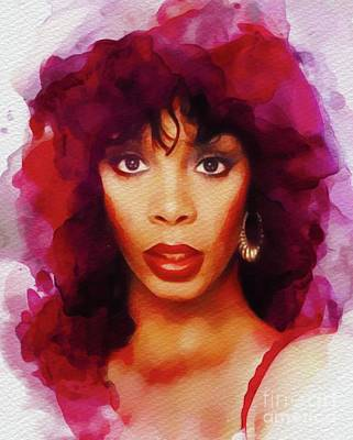 Rock And Roll Paintings - Donna Summer, Music Legend by John Springfield