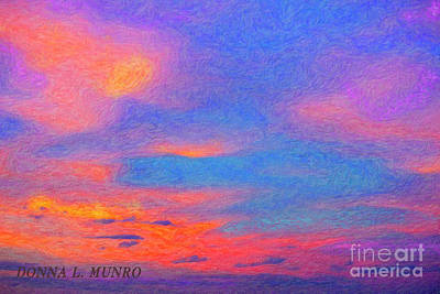 Digital Art - Donna's Sunrise by Donna L Munro