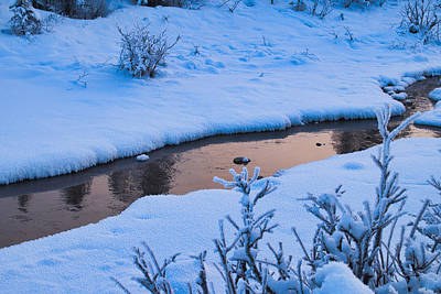 Photograph - Donnelly Creek In Winter by Cathy Mahnke