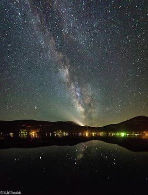 Photograph - Donner Lake Milky Way by Mike Ronnebeck