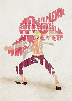 Digital Art - Donquixote Doflamingo Typography Art by Inspirowl Design