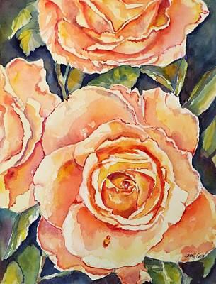 Floribunda Painting - Don't Be Modest by Jean Costa