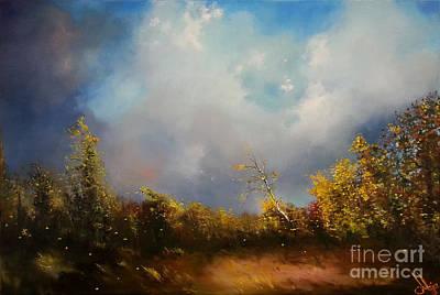 Painting - Dont Break Me Down Oil Painting by Maja Sokolowska
