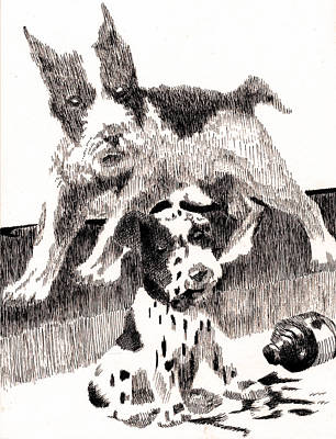 Robbi Musser Drawing - Don't Cry Over Spilled Ink by Robbi  Musser