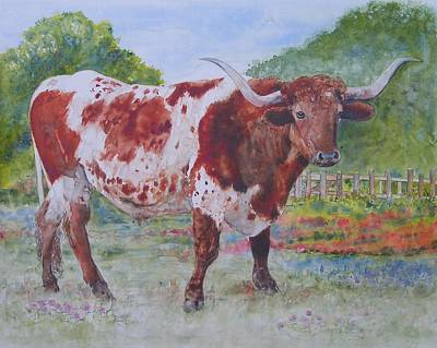 Painting - Don't Eat The Bluebonnets by Annika Farmer
