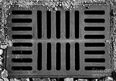 Photograph - Don't Forget The Drains Bw by Tim Richards