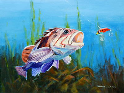 Painting - Don't get Hooked by Dennis Clark