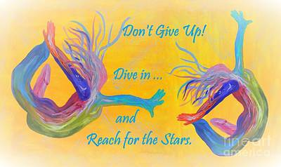 Don't Give Up Art Print by Eloise Schneider