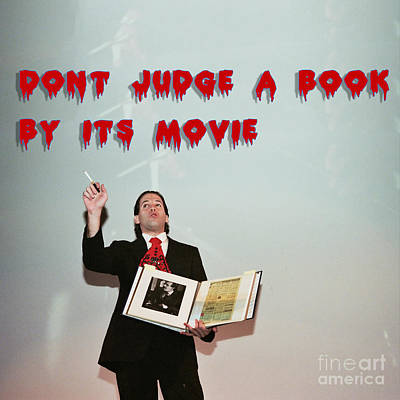 Ledger Books Photograph - Don't Judge A Book By Its Movie. by Humorous Quotes