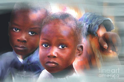 Haitian Painting - Don't Let Us Fade Away by Bob Salo