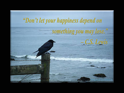 Photograph - Dont Let Your Happiness Depend On Something You May Lose by Tamara Kulish