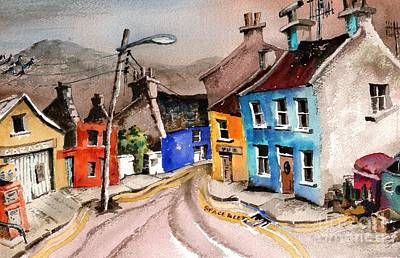 Painting - Dont Litter Eyeries, Beara by Val Byrne