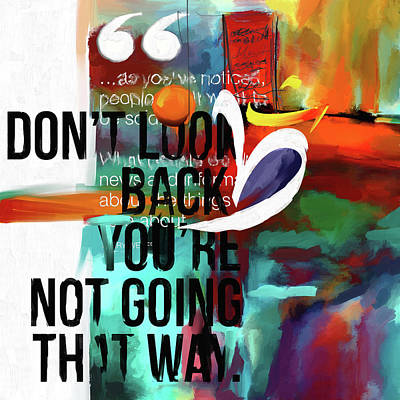 Painting - Don't Look Back 423.1 by Mawra Tahreem