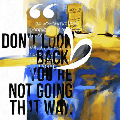Painting - Don't Look Back 423.3 by Mawra Tahreem