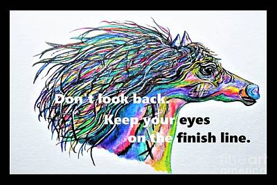 Backwards Painting - Don't Look Back by Eloise Schneider