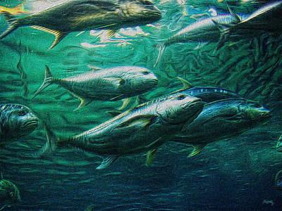 Salt Water Digital Art - Don't Mess With Bluefin Jack by Glenn McCarthy