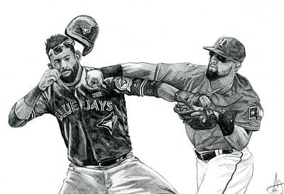 Mlb Drawing - Don't Mess With Texas by Joshua Sooter