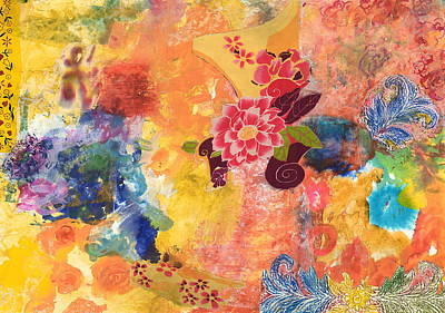 Abstrac Painting - Don't Send Me Flowers II by Gloria Von Sperling