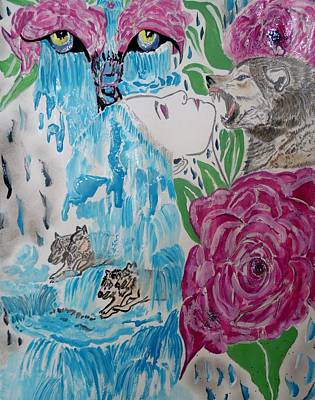 Painting - Don't Sleep Wolves On The Prowl  by Nicole Burrell