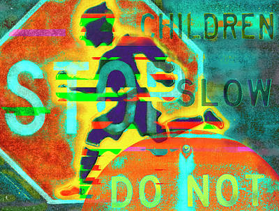 Digital Art - Don't Slow Children by John Dyess