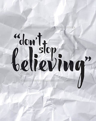 Lyrics Wall Art - Digital Art - Don't Stop Believing by Samuel Whitton