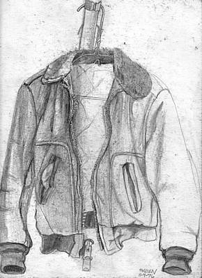 Coat Hanger Drawing - Don't Tell Joan About The Hangers No2 by Sandra Church