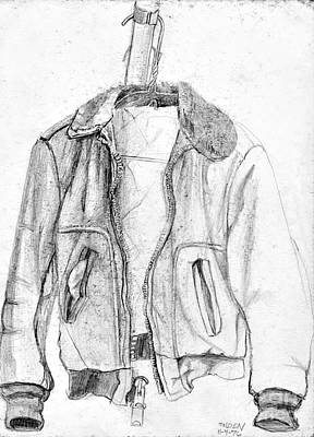 Coat Hanger Drawing - Don't Tell Joan About The Hangers by Sandra Church