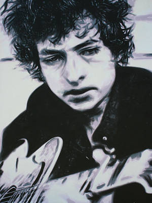Bob Dylan Painting - Dont Think Twice, Its Alright by Luis Ludzska