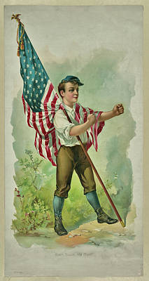 Mixed Media - Don't Touch My Flag 1890 by Bill Campitelle