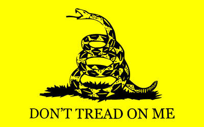 England Mixed Media - Don't Tread On Me Flag by War Is Hell Store