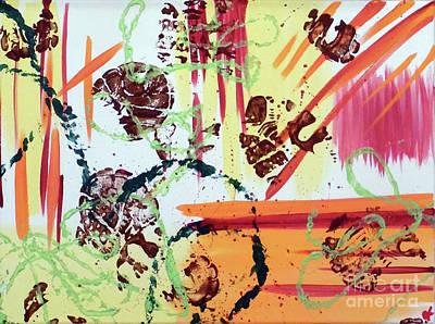 Abstract Handbag Painting - Don't Tread On Me by Jilian Cramb - AMothersFineArt
