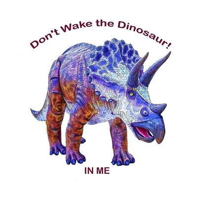 Digital Art - Dont Wake The Dinosaur by OLena Art Brand