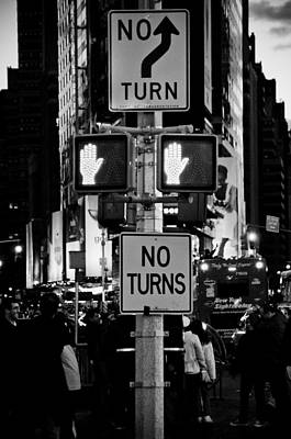 Photograph - Don't Walk At Times Square by Scott Sawyer