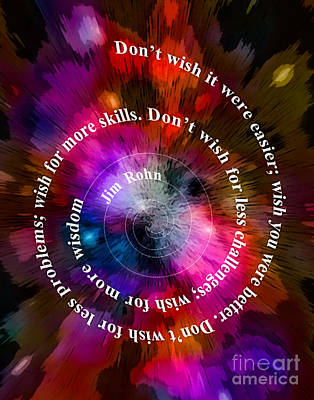 Digital Art - Don't Wish 003 25 12 2015 by Algirdas Lukas