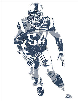 News Mixed Media - Donta Hightower New England Patriots Pixel Art 3 by Joe Hamilton