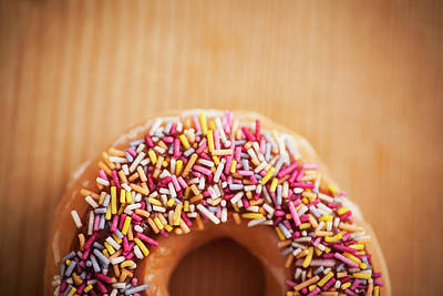 Royalty-Free and Rights-Managed Images - Donut and Sprinkles by Samuel Whitton